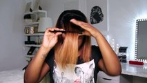 TEST FOU  Couper sa frange comme sur INSTAGRAM   Ali Julia Hair - YouTube