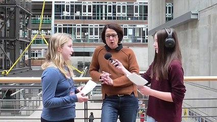 Prof. Gesa Marten im Interview mit den Kinderfilmuni Reportern