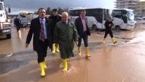 Mersin Büyükşehir Belediye Başkanı Burhanettin Kocamaz, Yağışların Etkili Olduğu Erdemli İlçesinde...
