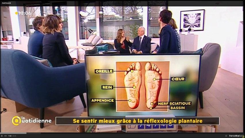 Mireille Meunier démonstration de réflexologie plantaire