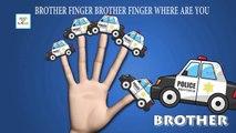 Finger Family Police Car Nursery Rhyme   Car Finger Family Songs   Daddy Finger Nursery Rhymes