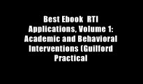 Best Ebook  RTI Applications, Volume 1: Academic and Behavioral Interventions (Guilford Practical