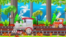 The little Train and the Big Truck in City of cars | Trains & Trucks cartoons for kids
