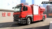 Chinese Fire Truck with Multiple Rocket Launchers Will Destroy Blazes