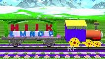 ABC алфавит песни стишок для детей поезд 3D анимация АВСD Детские песни