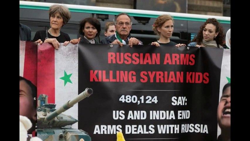 Reportage Avaaz Manifestation contre le salon mondial d'armement Eurosatory