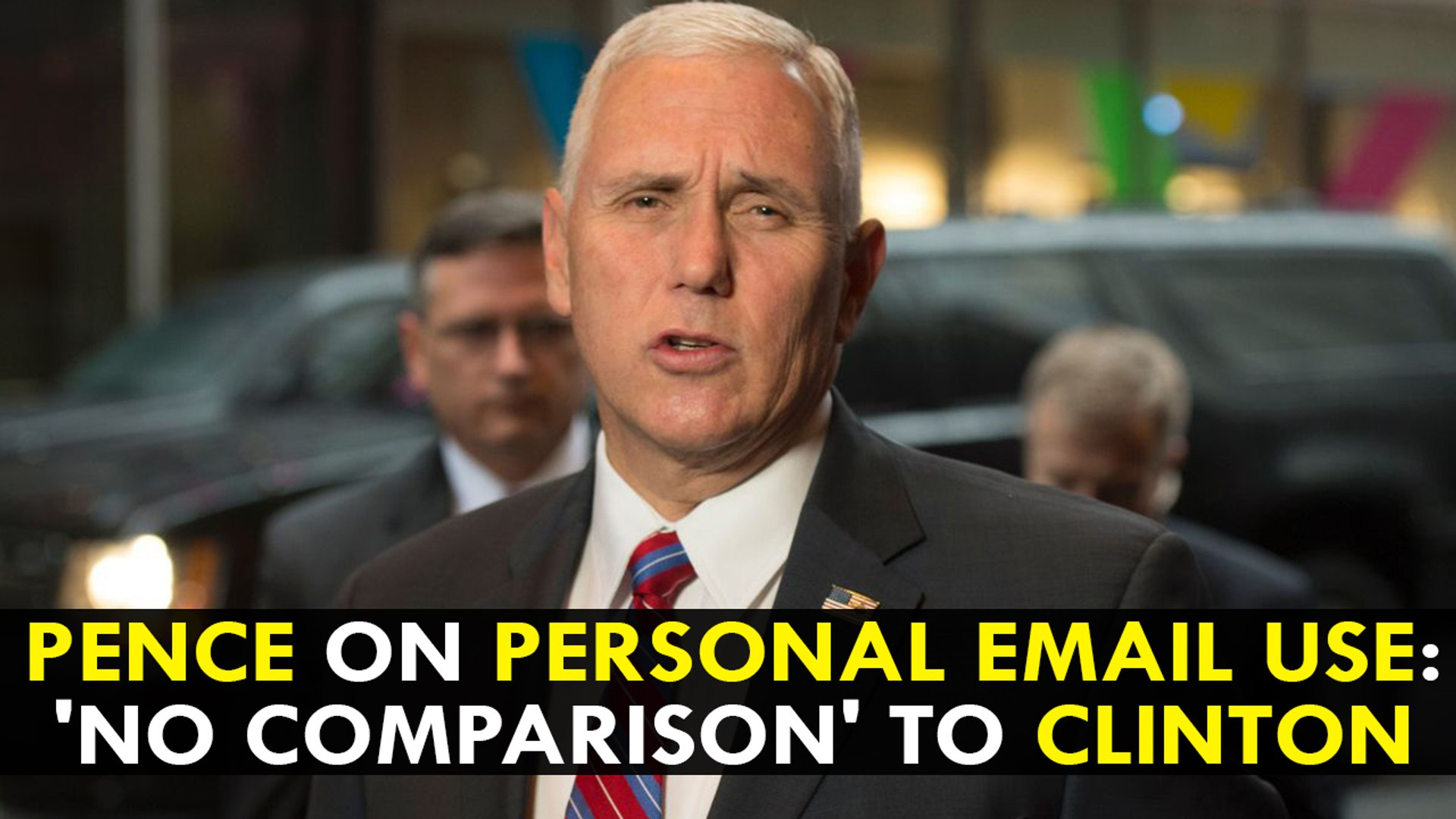 Mike Pence on Personal Email use: 'No comparison' to Clinton