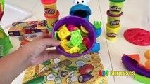 PLAYDOH Helado Tower Stack Challenge, Aprender los Colores y Cómo Contar para los Niños ALIMENTACIÓN de COOKIES