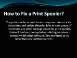 How to Fix a Print Spooler?