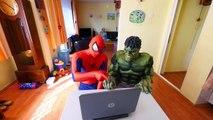 Hulk BREAKS Spiderman's Superman's PHONE! w_ Frozen Elsa Joker Gumball Machine Fun in Real