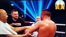 Un boxeur s'en prend à l'entraîneur de son adversaire et se prend une grosse gauche en retour