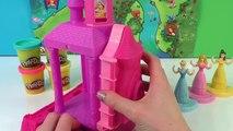 Play-Doh Disney Prettiest Princess Castle Cinderella Aurora Belle Girl Barbie Games Toys Playsets