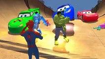 Disney Pixar Cars LIGHTNING MCQUEEN COLORS Epic Party & Spiderman Colors Hulk Colors Nursery Rhymes