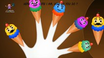 Cono de Helado Dedo de la familia de las Canciones 3D | Familia Dedo Canciones Para los Niños | los Dedos de la Familia