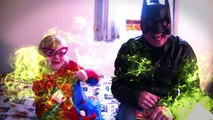 BATMAN vs SPIDERGIRL in a FARTING superhero contest In Real Life (Gross Poops and Farts) N