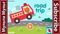 Sago Mini Viaje por Carretera : LAVADO de AUTOS Camiones de Bomberos y Camiones de Monstruo Coches Mejores Aplicaciones para Niños