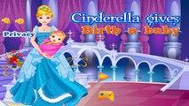 Disney Princess Games - Cinderella Gives Birth to Twins - Disney Cartoon Games For Girls A