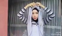 Tutorial Hijab - Segi Empat Turban Tanpa Jarum l Trend Hijab Idul Fitri 2016