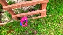 FROZEN Elsa and Spider Baby fight Joker and Vemon Spider baby falls in POOP POOP POOP