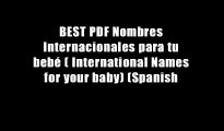 BEST PDF Nombres Internacionales para tu beb? ( International Names for your baby) (Spanish