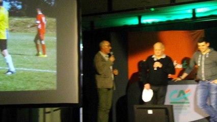 Discours de Mr MONDOUET Jean-Marc Président du club de l'US Alverne lors de la remise des maillots par le Crédit Agricole.