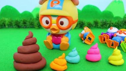 Rainbow Poop and big big Poop ?! Who is it Pororo Toy Animation 무지개 똥과 커다란 대왕똥! 누구의 것일까 뽀로로 장난감 애니메이션