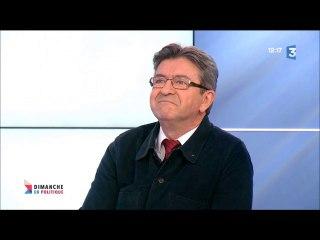 """Jean-Luc Mélenchon invité à """"Dimanche en politique """" sur France 3 le 05/03/2017"""
