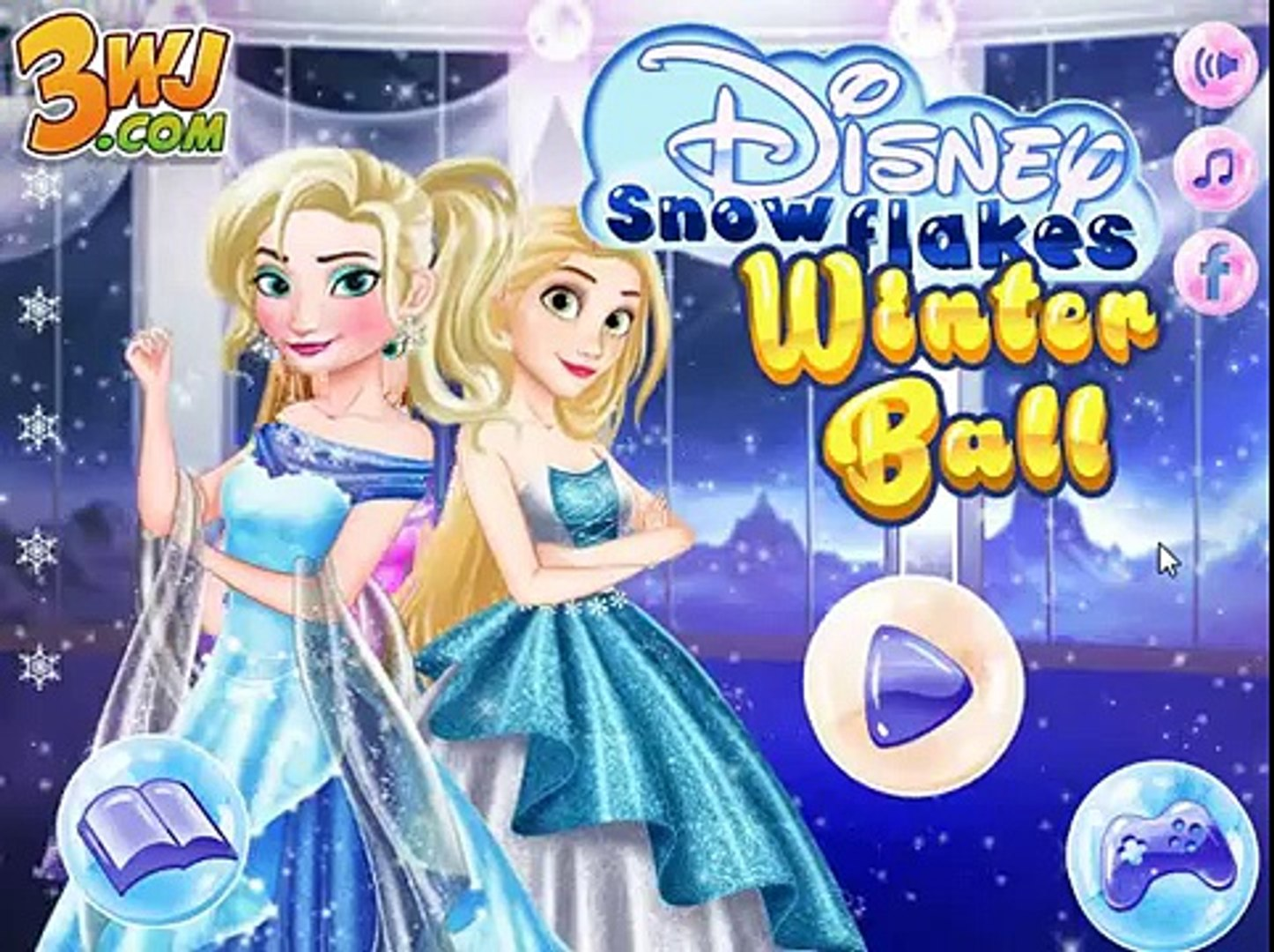 Мультик игра Принцессы Диснея: Зимний бал (Disney Snowflakes Winter Ball)