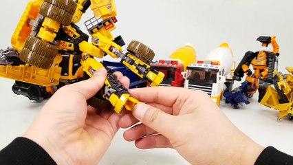 Construction Transformers Carbot Tobot Dump Truck Mixer Truck Bulldozer Poclain Vehicle Robot Car Toys