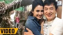 Disha Patani's Behind The Scene Video With Jackie Chan | Kung Fu Yoga | लहरें गपशप
