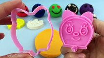 Learn Colors Play Doh Happy Laughing Smiley Face Doraemon Theme Molds Fun for Baby Toddlers Children