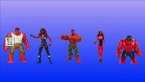 Finger Family Rhymes By Hulk Vs Red Hulk Cartoons | Epic Rap Battle Finger Family Nursery