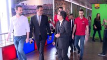 La secció hoquei patins fa entrega de la Copa del Rei al Museu del FC Barcelona
