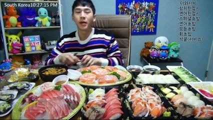 BANZZ▼ Various Sushi & Sashimi Mukbang (Eating Show Social Eating) 밴쯔▼ 여러가지 초밥 & 사시미(회) 먹방! 편집본