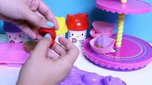Play Doh de Hello Kitty Cupcake de la Torre de la Masa de Plastilina Torre de Pa