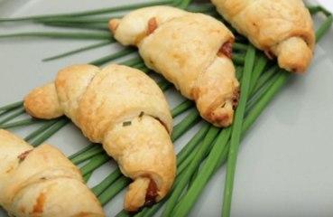 Petits croissants au jambon et roquefort !