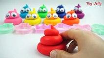 Играть с цветной пластилин смайлик какать и ПЕРДЕТЬ шутки формочки развлечения для детей
