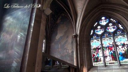 Les peintures murales de l'église Saint-Séverin à Paris proches de la ruine