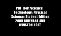 PDF  Holt Science   Technology: Physical Science: Student Edition 2005 RINEHART AND WINSTON HOLT