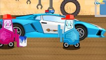 The Police car with BAD CARS in Small City - Emergency Cars - Cars & Truck animation for Kids