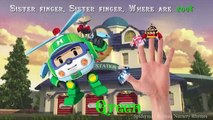 Robocar Poli Amber Helly Roy Jin Learning Colors with Finger Family Nursery Rhymes Songs f