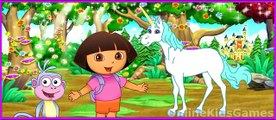 Dora La exploradora en El Cuento de el Unicornio Rey Parte 1 de Dora Aventura en el Bosque Encantado