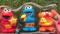 Sesame Street Bath Squirters Cookie Monster Elmo & Ernie Pool Toys Juguetes Plaza Sésamo Hasbro