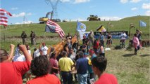 American Indians protesting Trump, pipeline with march