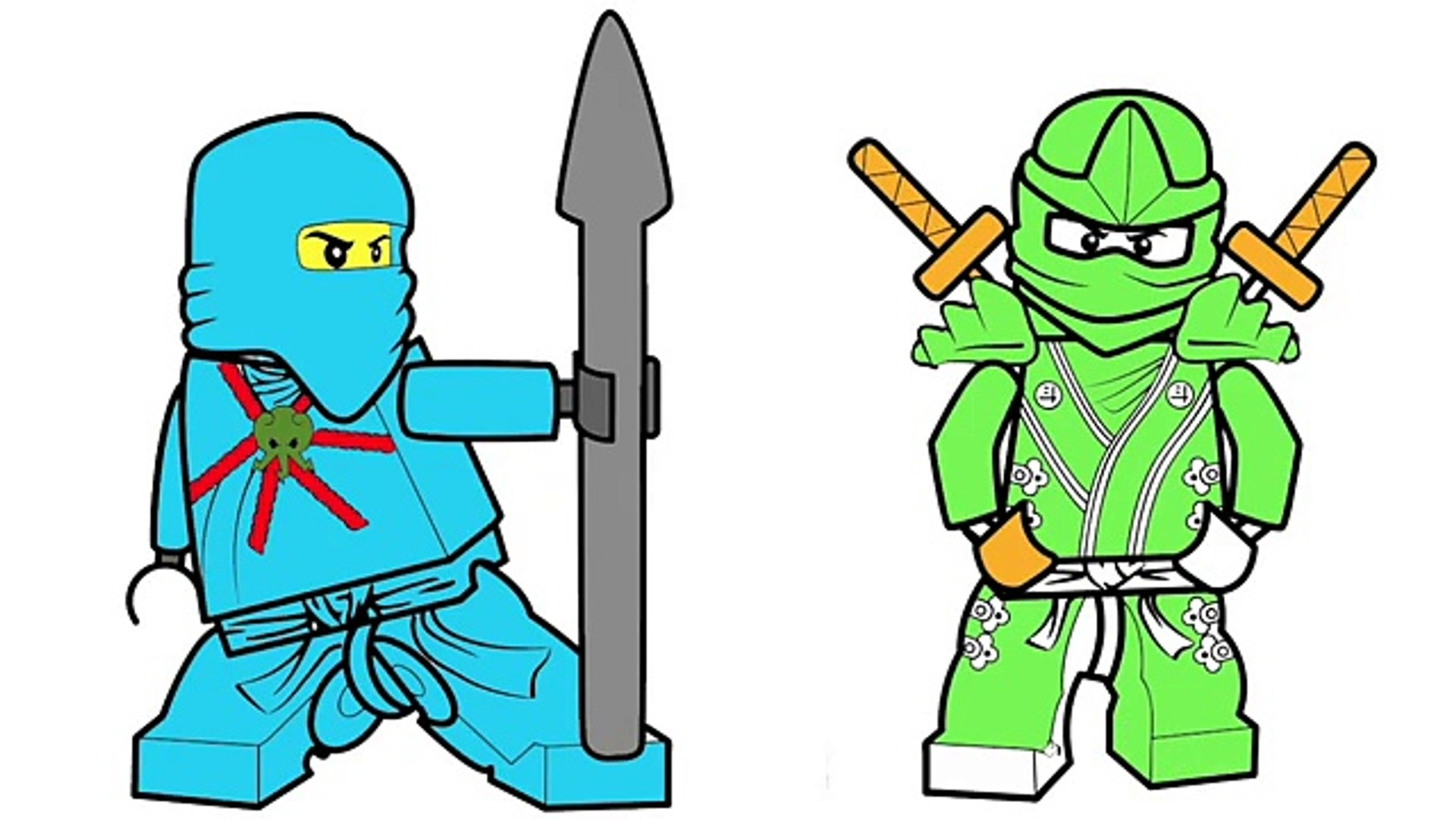 Lego Ninjago Jay And Lloyd Coloring Page Fun Coloring Activity For Kids Toddlers Children Dailymotion Video