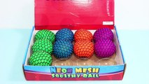 SQUISHY BALLS Mesh Slime Learn Colors and Animals Cut Open Squishy Splat Ball Toddlers and