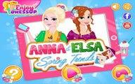 La princesa Elsa y Anna de la Moda de Primavera de Disney Frozen Princesa de Vestir y Juegos de maquillar Fo