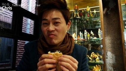 Trying Devil Fruit in One piece Cafeteria in Korea | Probando la Fruta del Diablo en la cafetería de One Piece