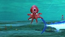 Piranha Shark Whale Sea Animals Finger Family Songs | Fish Dolphin Octopus Children Nurser