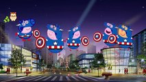Peppa Pig CAPTAIN AMERICA Daddy Fingers Painting / Family Finger Song Nursery Rhymes Lyric